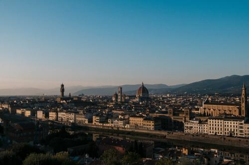Florence sunset view from Piazzale Michelangelo
