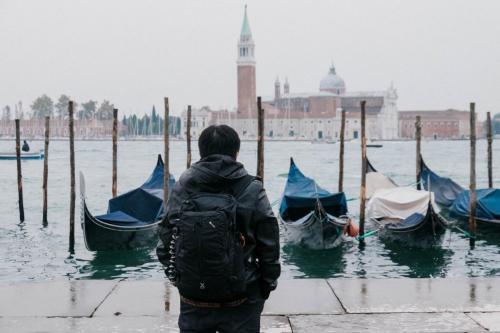 Gondola Parking Overlooking Doge's Palace
