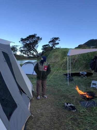 Layering and campfire at Lake Tabeo